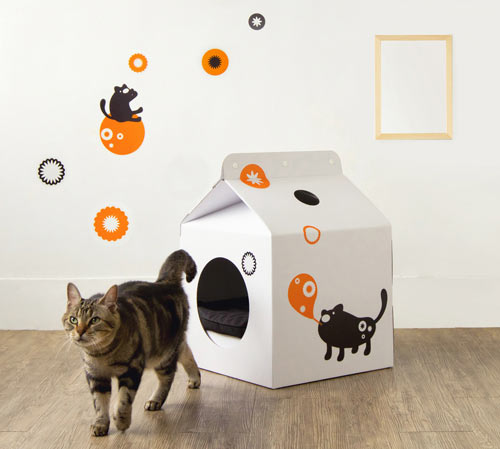 Milk Box Carton Shaped Pet House in style fashion main home furnishings  Category