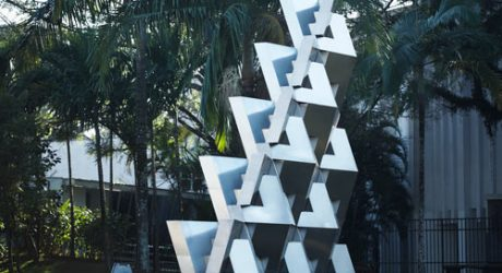 Reach: Metal QuaDror Sculpture by Dror Benshetrit