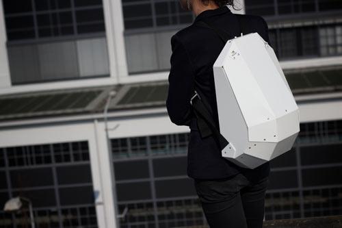 Solid Gray Backpack by Lijmbach, Leeuw & Vormgeving