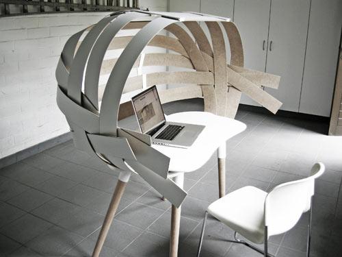 Woven Desk by Bram Vanderbeke