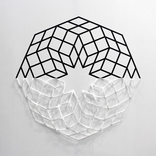 Geometric Tape Installations by Aakash Nihalani in main art  Category