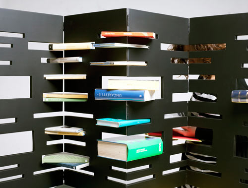 An Interesting Way to Store Books: Bookshelf Tower and Divider by Marica Vizzuso