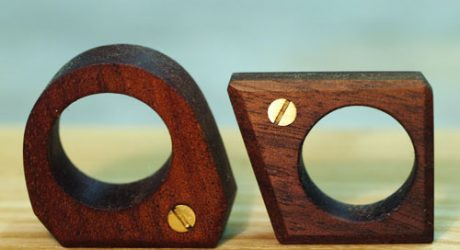 Wood and Brass Screw Ring by Nucharin Wangphongsawasd