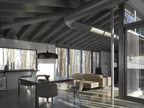 Bromont House by Paul Bernier Architecte in main architecture  Category