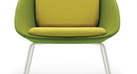 Two-Tone Dishy Sofa and Chair by David Fox