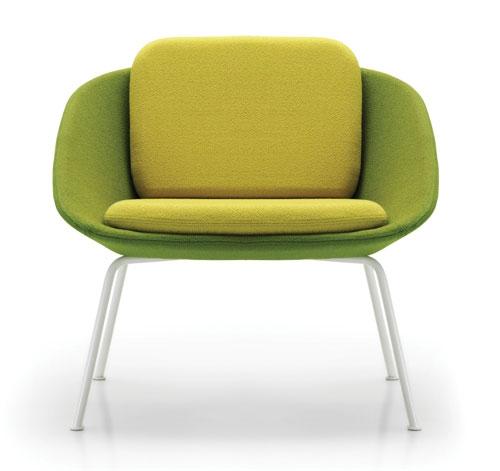 Two-Tone Dishy Sofa and Chair by David Fox