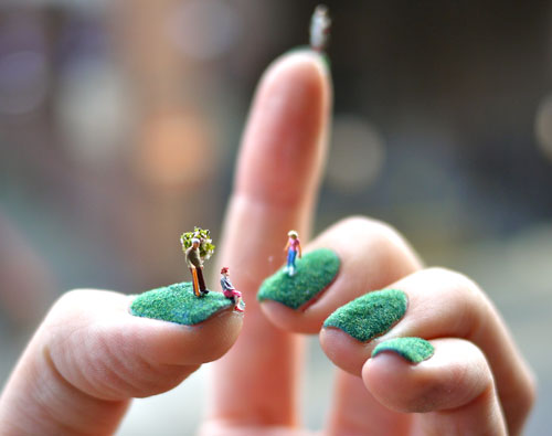 Tiny Art At Your Fingertips Nail Landscapes By Alice Bartlett