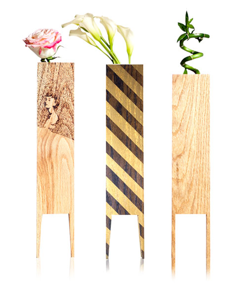 LEBORED Limited Edition Wood Vases