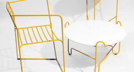 Bent Steel Furniture by Zbigniew Strzebonski
