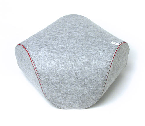 Unzip This Ufo Felt Cushion by Luca Cozzi and It Becomes A Mat
