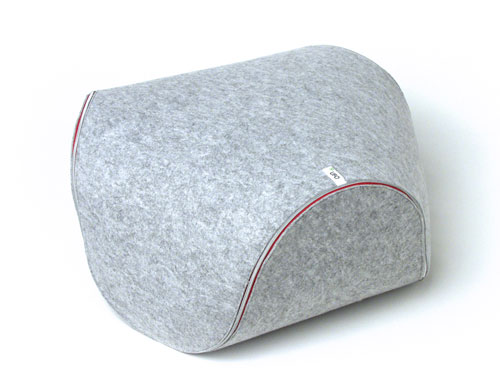 Unzip This Ufo Felt Cushion by Luca Cozzi and It Becomes A Mat in main home furnishings  Category
