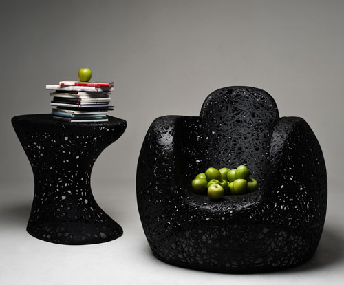 Natural Resin / Volcanic Basalt Furniture by Maffam Freeform in main home furnishings  Category