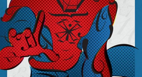Superhero Typographic Posters by Matthew Olin