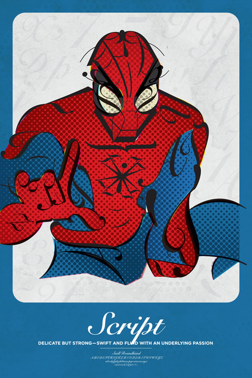 Superhero Typographic Posters by Matthew Olin