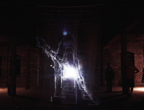 Transient Interactive Light Installation by Pablo Gnecco