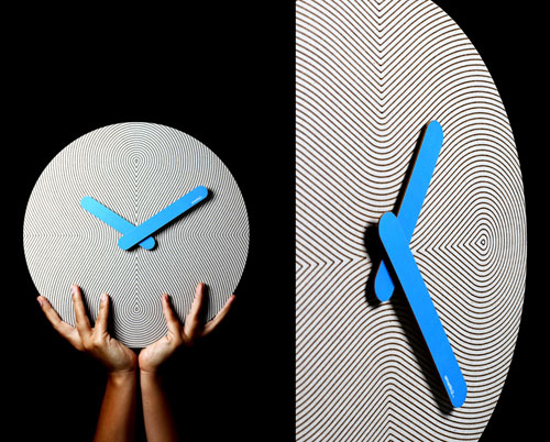 Op Art Style Cardboard Pensamientos Clock by 2y1dea in technology home furnishings  Category