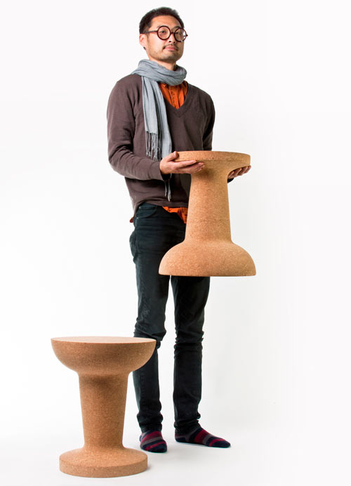 Pushpin Cork Chair/Table by Kenyon Yeh for COOIMA in main home furnishings  Category