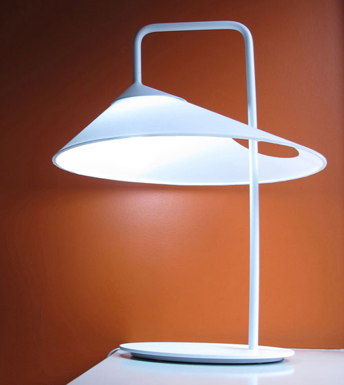 Asymmetrical Oval Lamp by Ran Lerner