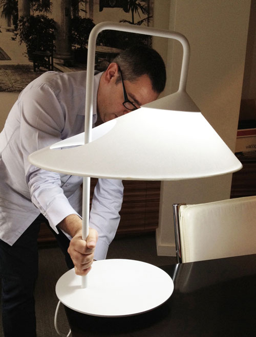 Asymmetrical Oval Lamp by Ran Lerner in main home furnishings  Category