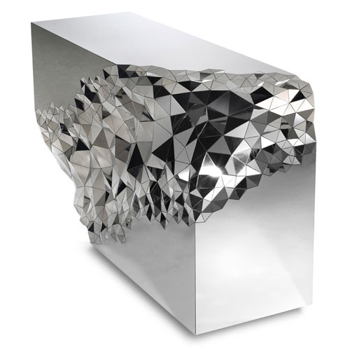 Mirrored Geometric Stellar Console Table by Jake Phipps