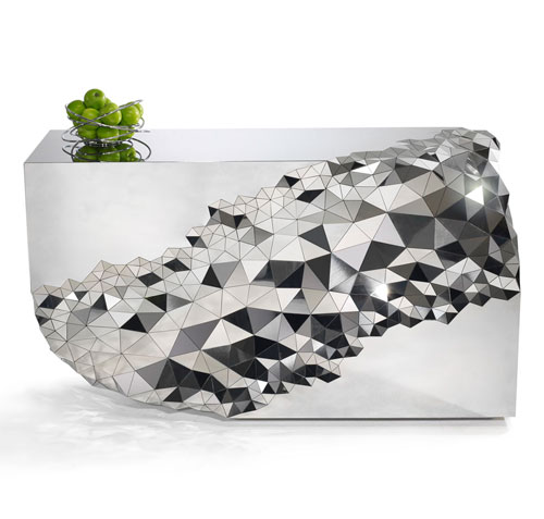 Mirrored Geometric Stellar Console Table by Jake Phipps in main home furnishings  Category