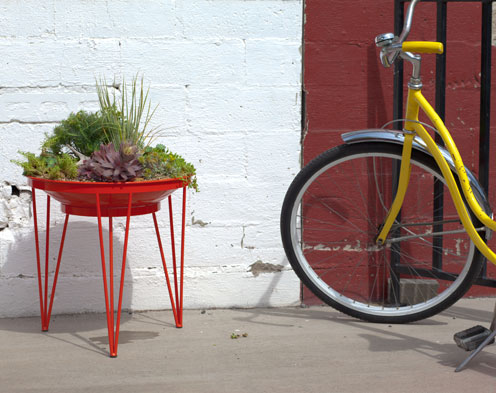 Modern Planters Made from Salvaged Metal: Desert Collection by Steel Life in home furnishings  Category