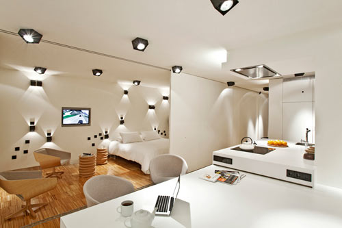 Unique Artistic Lighting Concept in a Barcelona Apartment by ...