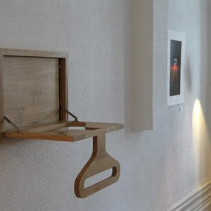 Wall-Mounted Valet Hanger and Shelf by Diogo Frias