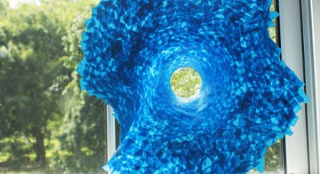 Dominic Wilcox's Giant ScotchBlue Tape Flower Sculpture