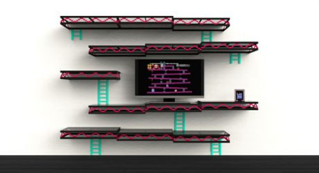 Donkey Kong Inspired Wall Shelving by Igor Chak