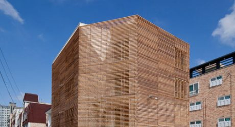 House Covered in Horizontal Slats with Louvered Windows by Smart Architecture