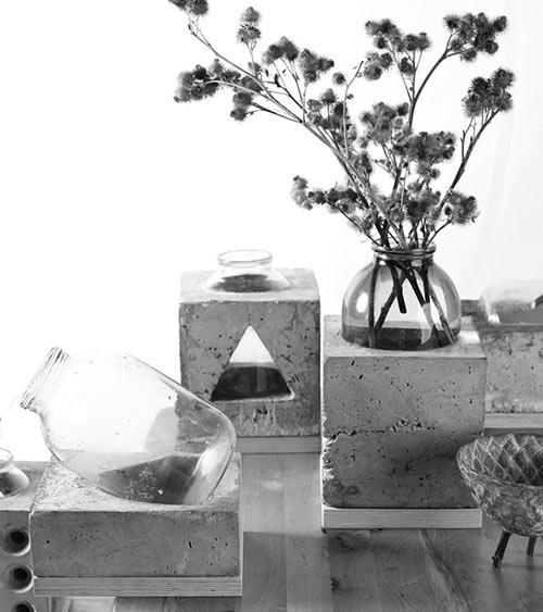 Concrete and Glass Vases by Sergey Makhno in main home furnishings  Category