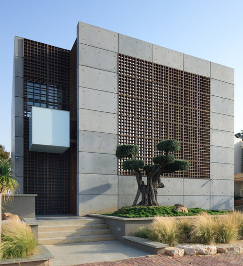 precast concrete home designs.  House with Pre Cast Concrete Panels by Auerbach Halevy Architects