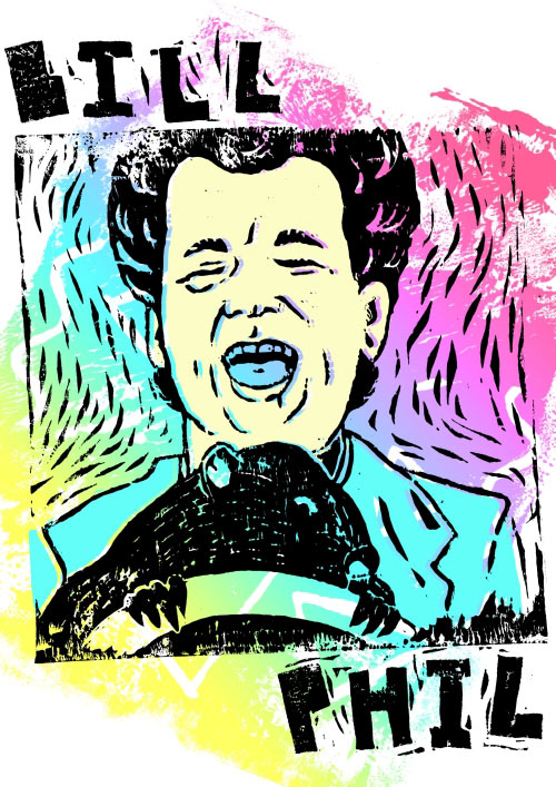 Thrill Murray: A Bill Murray Coloring Book by Belly Kids in style fashion main art  Category