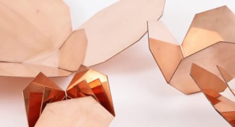 Me-Far Geometric Copper Nesting Bowls by CoWorks