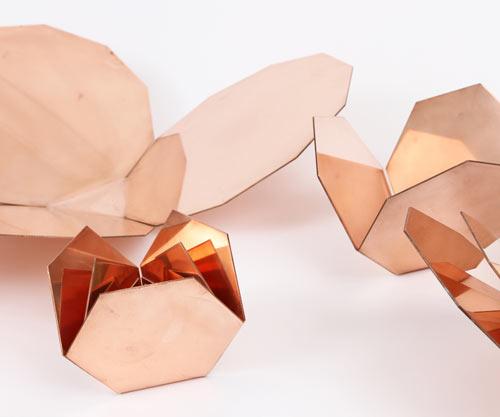 Me-Far Geometric Copper Nesting Bowls by CoWorks