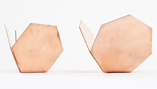 Me Far Geometric Copper Nesting Bowls by CoWorks in main home furnishings art  Category