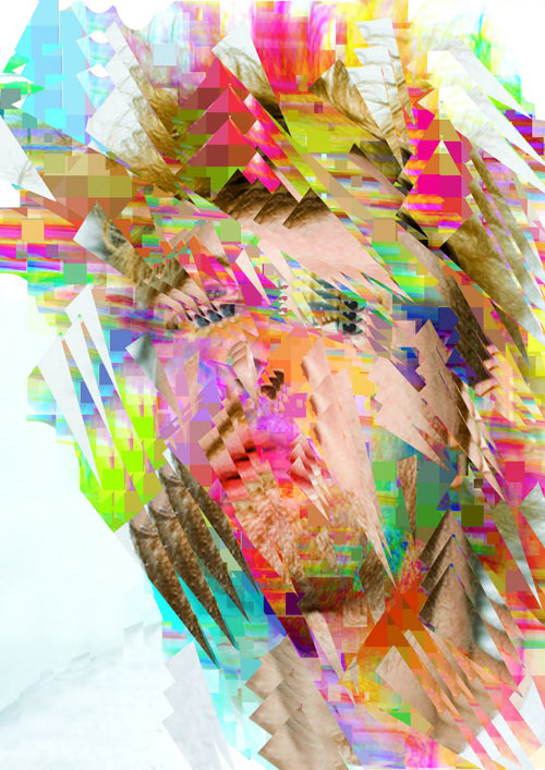 Digitally Distorted Portraits by Jack Addis in main art  Category