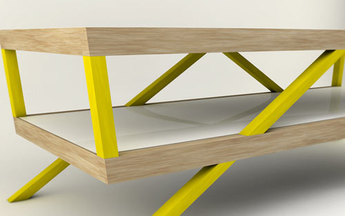 Kitara Coffee Table by Max Ptk in home furnishings  Category