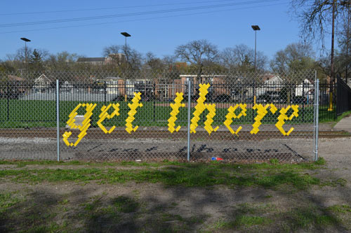 Typography Fence Art by Lambchop Design Milk