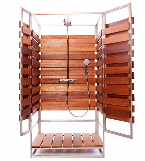 Oborain: A Modern Pre Fab Outdoor Shower in home furnishings  Category