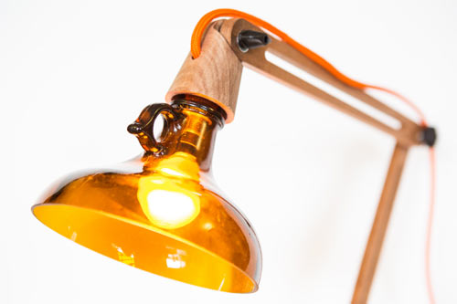 Reusing Glass Bottles to Make Lamps: UTREM LUX by Degross Design