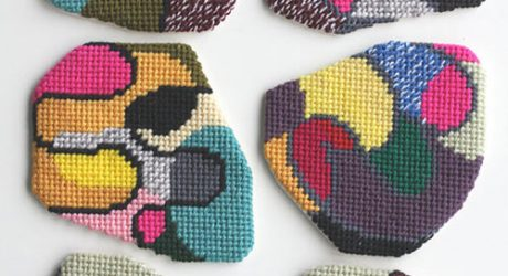 Abstract Needlepoint and Knitting by CRESUS artisanat