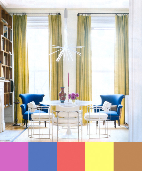Colorful Interior Design by Fawn Galli in interior design  Category
