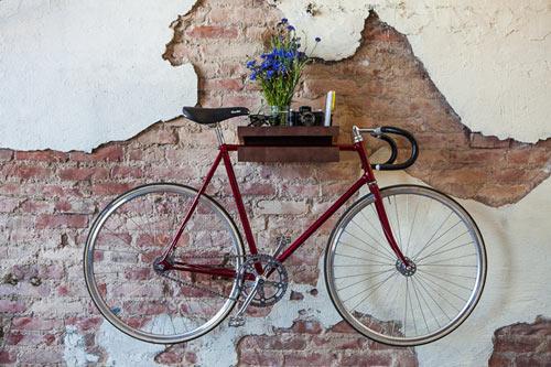 FIXA Bike Shelf Doubles as a Table with Storage