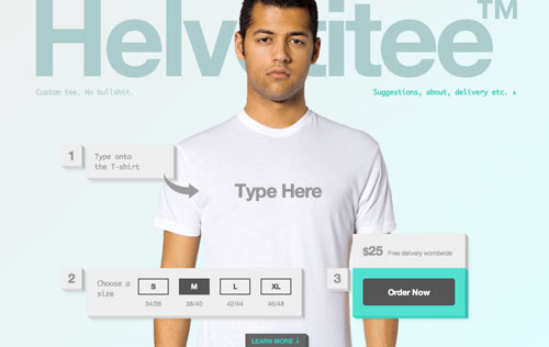 Make Your Own Helvetica T-Shirts with Helvetitee - Design Milk