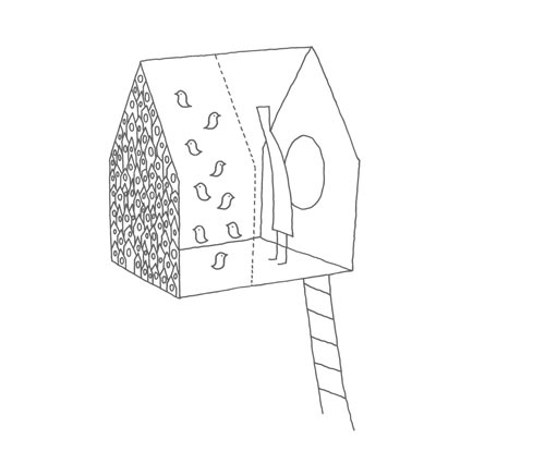 A Birdhouse for Humans and Birds: Bird Apartment Treehouse by Nendo in main architecture  Category