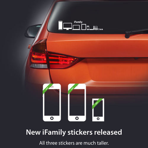 Honk if Youre A Mac: iFamily Car Stickers for Apple Geeks in technology style fashion  Category