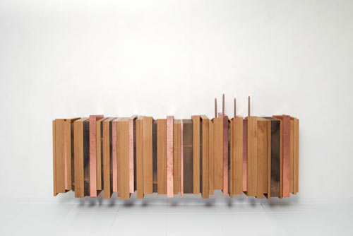 Oak and Copper Sideboard by Joint Perspectives