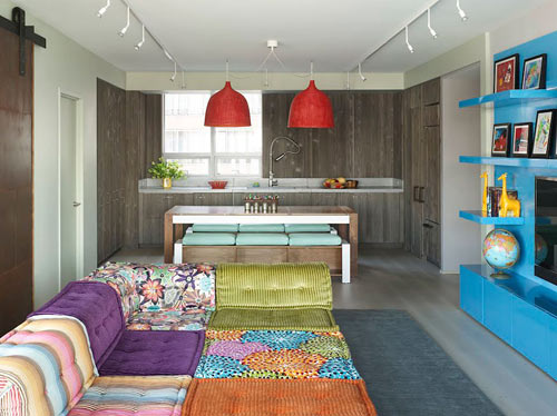 colorful modern kid friendly apartment by incorporated architecture design